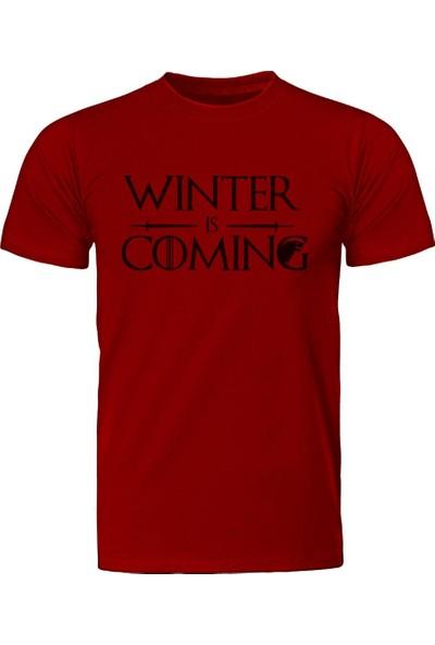 Diagon Yolu Game Of Thrones Winter Is Coming 2 Kırmızı T-Shirt