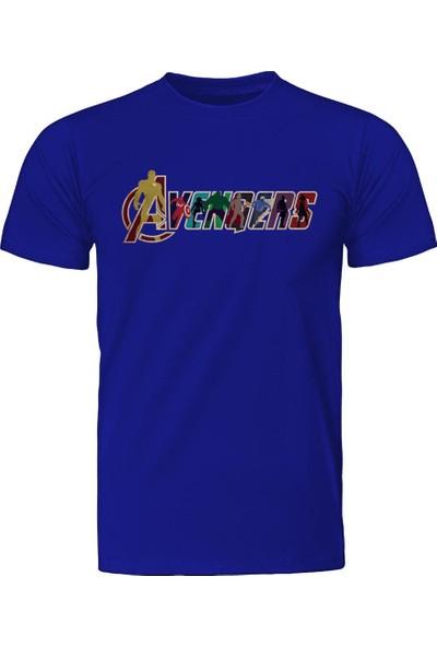 Diagon Yolu Marvel Avengers Mavi T-Shirt