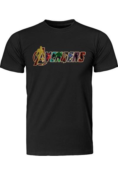 Diagon Yolu Marvel Avengers Siyah T-Shirt