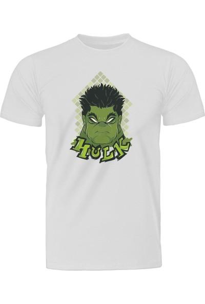 Diagon Yolu Marvel Hulk Face Beyaz T-Shirt