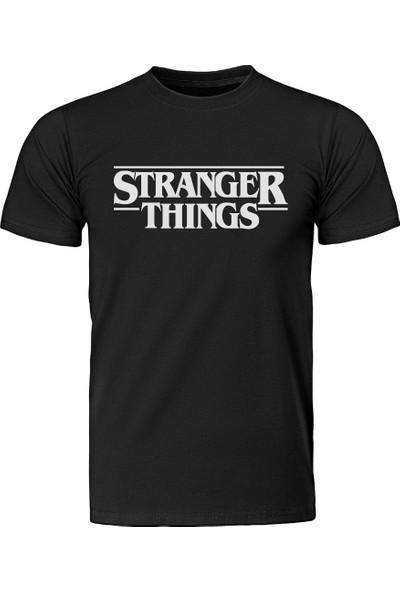 Diagon Yolu Stranger Things Type Siyah T-Shirt