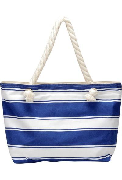 Butigo Wdrn1502 Mavi Kadın Plaj Çantası
