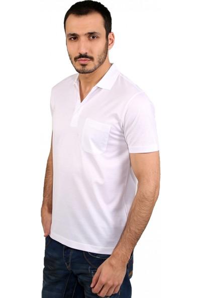 Çift Geyik Karaca Erkek Regular Fit T Shirt Beyaz