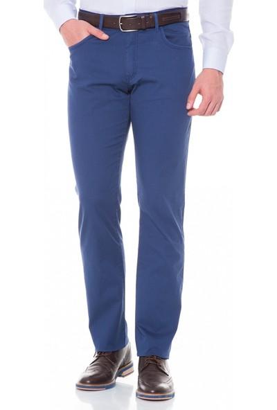 Çift Geyik Karaca Erkek Regular Fit 6 Drop Casual Pantolon İndigo