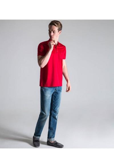 Çift Geyik Karaca Erkek Regular Fit Süprem T Shirt Kırmızı
