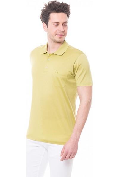Çift Geyik Karaca Erkek Regular Fit Süprem T Shirt Fistik Yeşili