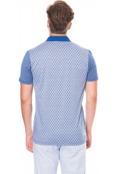 Çift Geyik Karaca Erkek Slim Fit Pike T Shirt Saks