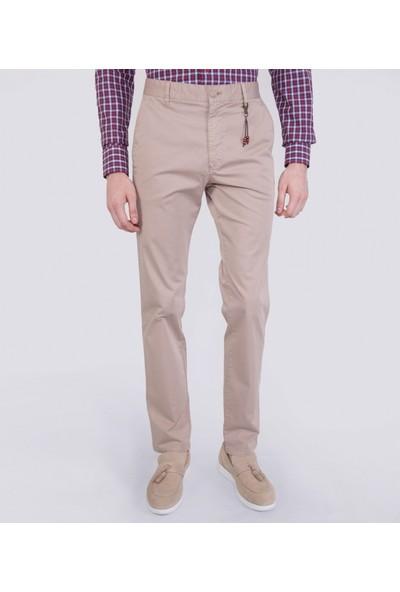 Çift Geyik Karaca Erkek Regular Fit 6 Drop Casual Pantolon Bej
