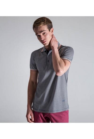 Çift Geyik Karaca Erkek Slim Fit Süprem T Shirt Lacivert