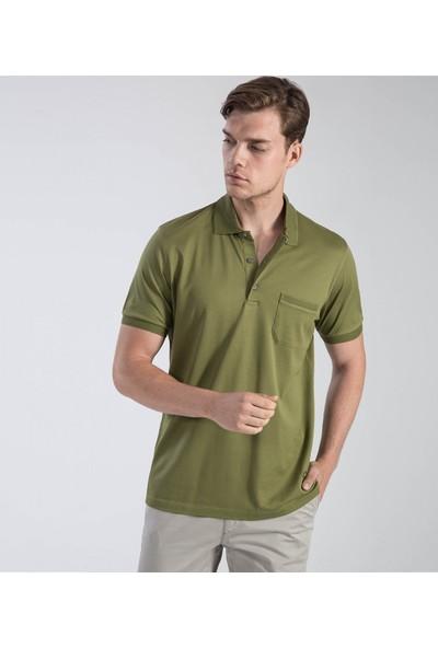 Çift Geyik Karaca Erkek Regular Fit Süprem T Shirt Haki