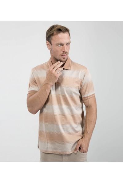 Çift Geyik Karaca Erkek Regular Fit Süprem T Shirt Kiremit