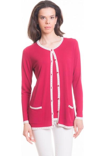 Çift Geyik Karaca Kadın İkili Set Kırmızı