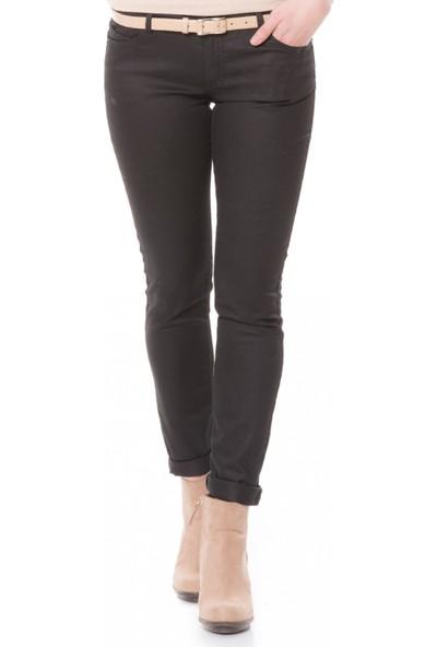Çift Geyik Karaca Kadın Jeans Siyah