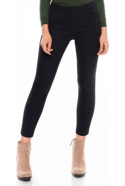 Çift Geyik Karaca Kadın Klasik Pantolon Lacivert