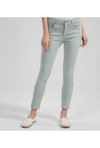 Çift Geyik Karaca Kadın Jeans Yeşil