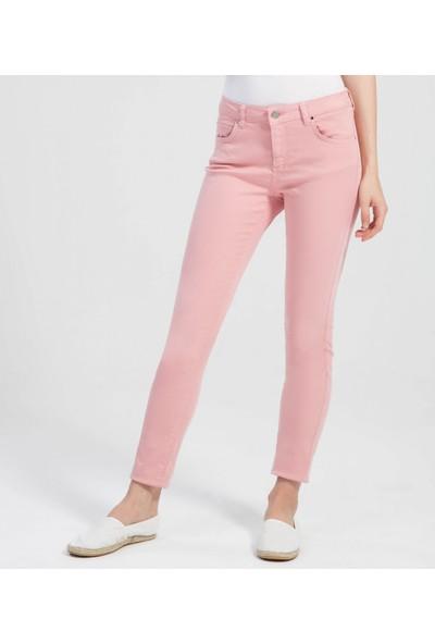 Çift Geyik Karaca Kadın Jeans Pudra