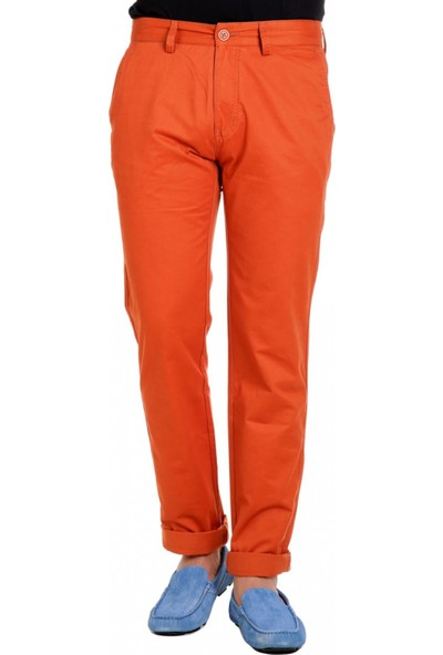 Çift Geyik Karaca Toss Erkek Slim Fit Pantolon Turuncu