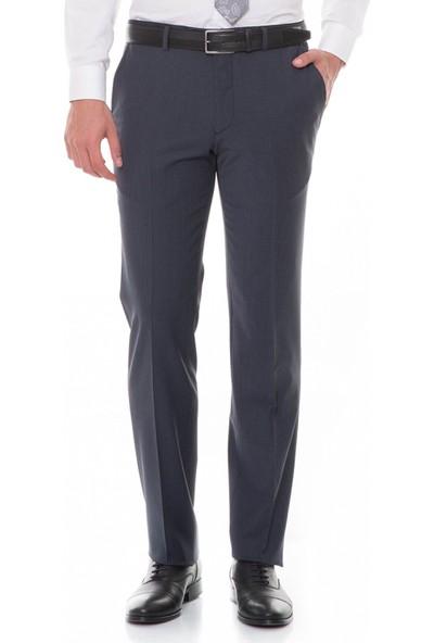 Çift Geyik Karaca Toss Erkek Slim Fit 6 Drop Klasik Pantolon Siyah