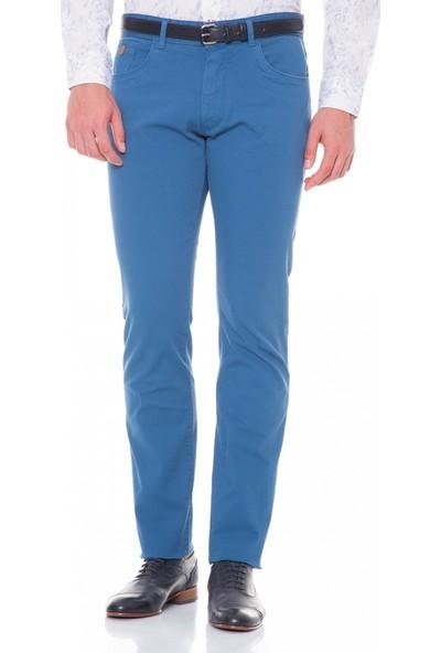Çift Geyik Karaca Toss Erkek Slim Fit 6 Drop Casual Pantolon İndigo