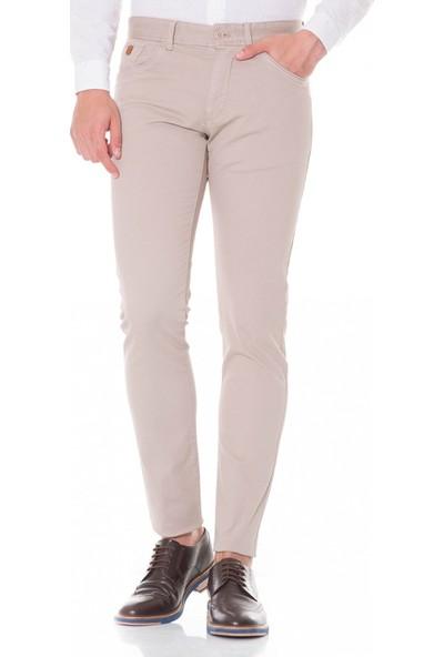 Çift Geyik Karaca Toss Erkek Slim Fit 6 Drop Casual Pantolon Taş