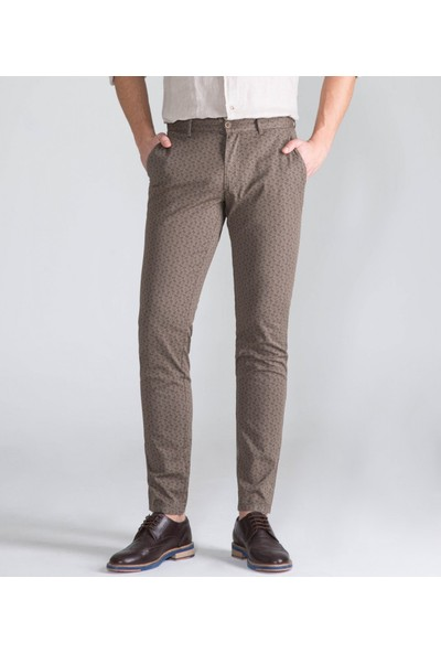 Çift Geyik Karaca Toss Erkek Slim Fit 6 Drop Casual Pantolon Yeşil