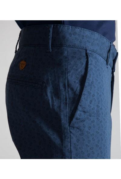 Çift Geyik Karaca Toss Erkek Slim Fit 6 Drop Casual Pantolon Mavi