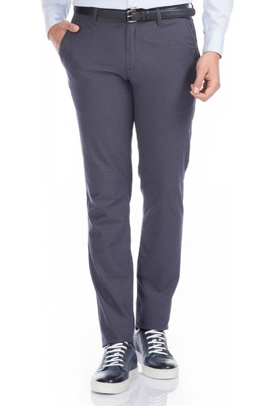 Çift Geyik Karaca Toss Erkek Slim Fit 6 Drop Casual Pantolon Lacivert