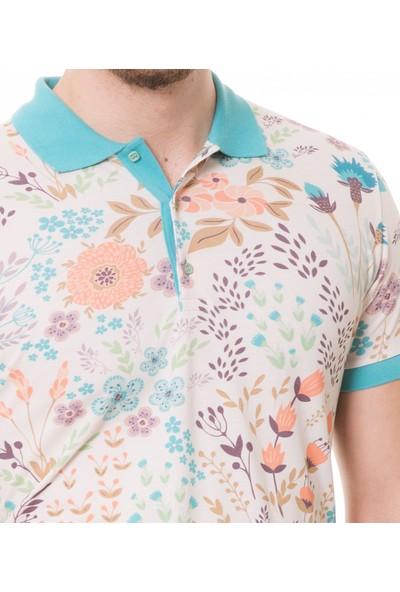 Çift Geyik Karaca Toss Erkek Extra Slim Fit Pike T Shirt Multi Color