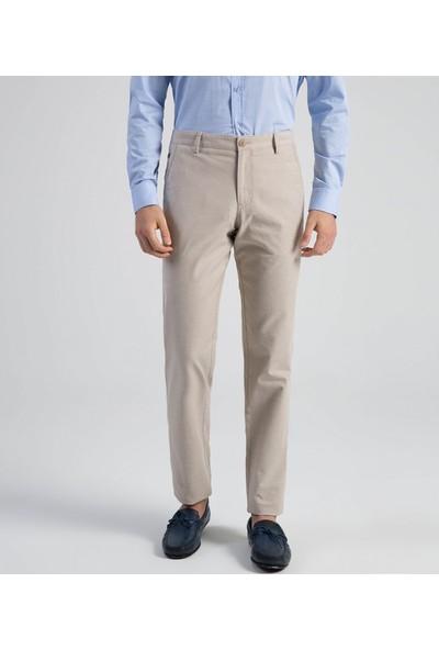 Çift Geyik Karaca Toss Erkek Slim Fit 6 Drop Casual Pantolon Bej