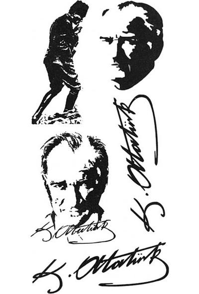 Neo Flash Tattoo Atatürk Silüetleri Geçici Dövme