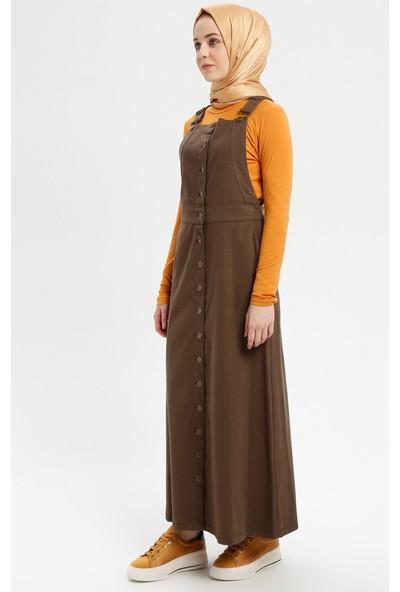 Salopet Elbise - Kahverengi - Neways