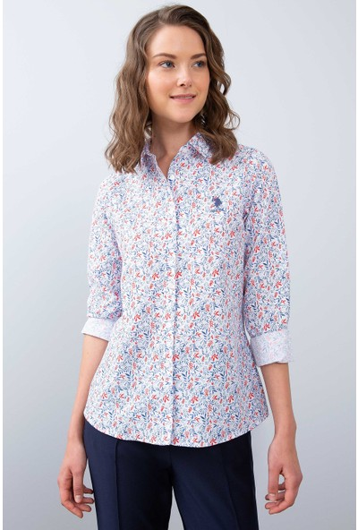 U.S. Polo Assn. Kadın Dokuma Gömlek 50213837-Vr030