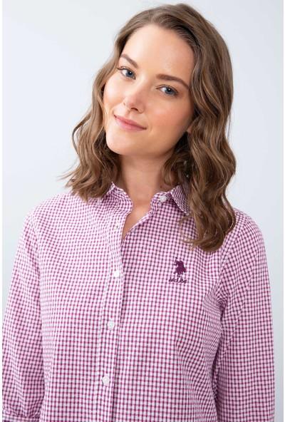 U.S. Polo Assn. Kadın Dokuma Gömlek 50208945-Vr037