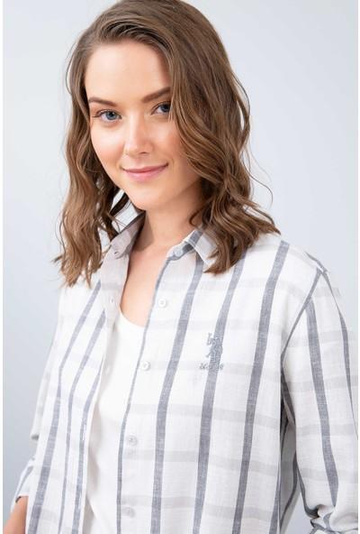 U.S. Polo Assn. Kadın Dokuma Gömlek 50213896-Vr024