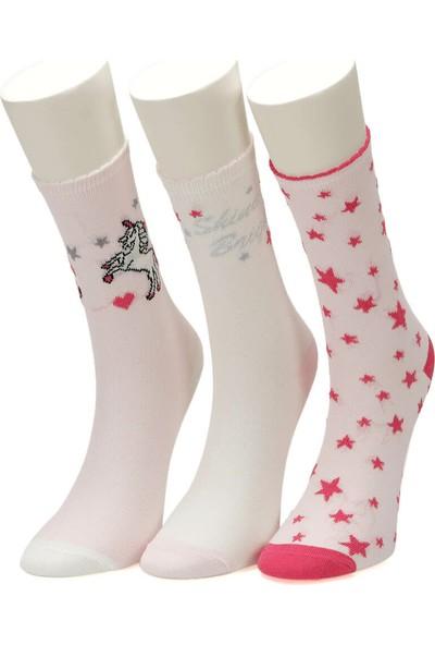 I Cool Unicorn 3 Lu Skt-G Pembe Mult Kız Çocuk Soket Çorap