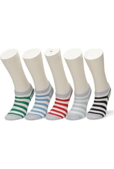 I Cool Stripes 5 Li Ptk-B Çok Renkli Erkek Çocuk Patik Çorap