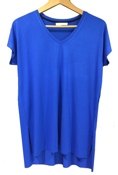 Mumu V Yaka Kadın Basic T-Shirt