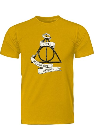 Diagon Yolu Harry Potter Always Sarı T-Shirt