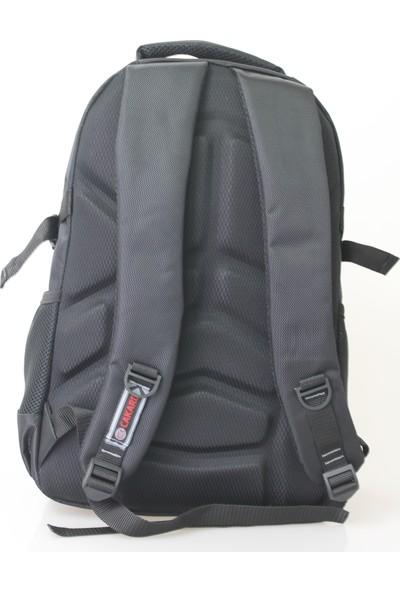 Cakard 15.6 Inc Laptop Bölmeli Sırt Çantası 4018-5 Siyah