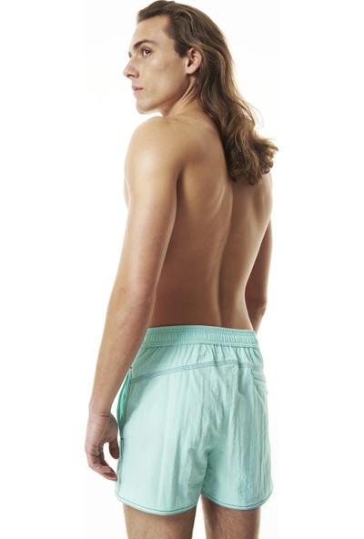 Shikoo Swimwear Mint Beli Düğmeli Erkek Şort Mayo