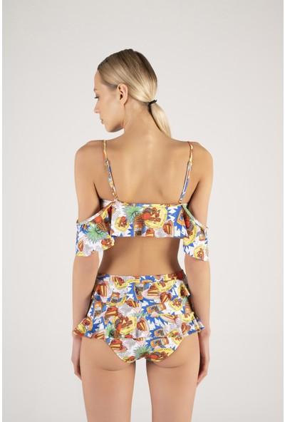 Shikoo Swimwear Fırfırlı Yüksek Bel Bikini
