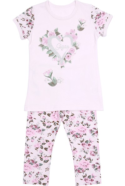 Gigas Kız Çocuk T-Shirt Tayt 2'li Takım
