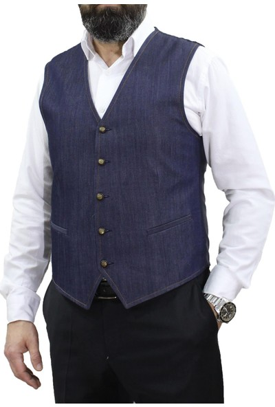 Mentor Regalo Erkek Yelek V Yaka Kot 50190-Y