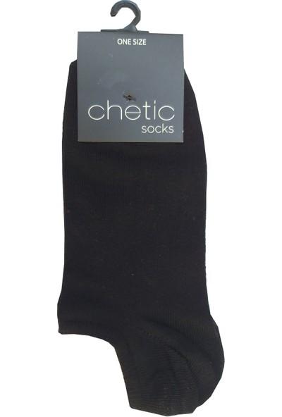 Chetic Si̇yah Sneaker Kadın Çorap