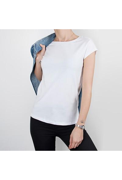 Kapsulstore Yuvarlak Yaka Organi̇k Pamuk Kadın T-Shirt