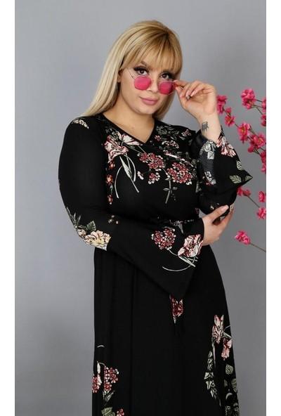 Nbb Kruvaze Yaka Kadın Uzun Elbise