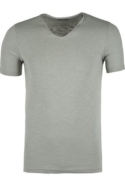Jack & Jones 12136502 Erkek Jorbırch Tee Ss V-Neck T-Shirt Thyme