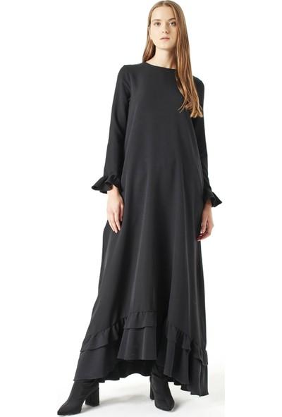 Mizalle Fırfırlı Elbise