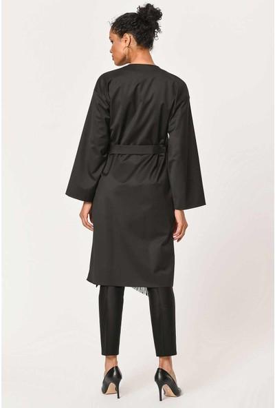 Mizalle Etnik Jakar Desenli Kimono