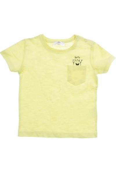Soobe Erkek Bebek T-Shirt Neon Sarı (12-24 ay)